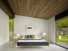 Lakewood Mid Century by DeForest Architects #wood #ceiling