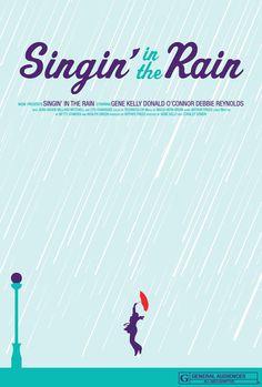 Singing In The Rain #minimalist #movie #poster