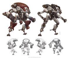 Robots: Romulus #robot #fantasy #sci-fi #wwwkeiththompsonartcom