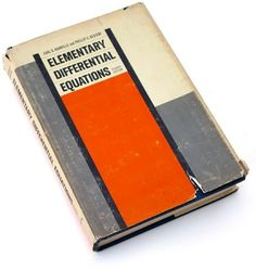 Elementary Differential Equations, 1969 : Book Worship #cover #design #book