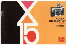Kodak Instamatic X-15 Vintage Packaging #packaging #vintage