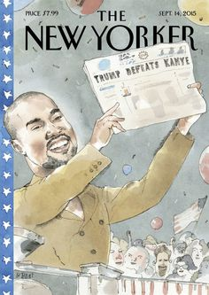 the new yorker kanye west rapper illustration magazine cover