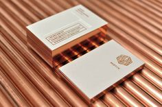 Beautiful copper edging from negation studio. #print #stationery #copper #foil