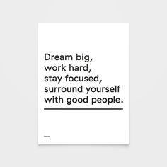 Dream Big #inspiration #advice #words #print #dream #poster #type #typography