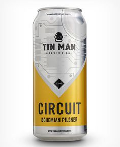 Tin Man Brewing Circuit Can #packaging #beer #can #label