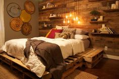 Rustic, wood, bedroom