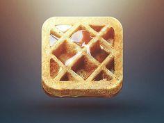 waffle iphone icon #icon #waffle #button
