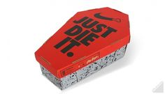 Boxes of Death 3D — Dire Streets - Never Made It In America #die #just #packaging #nike #illustration #it #scott #fuller #coffin
