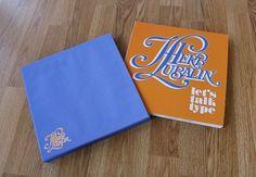 Herb Lubalin Book Design - Alex Register Design #lettering #white #type #orange #blue #hand #typography