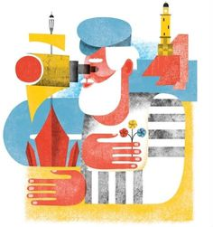grain edit · Maria Corte #colourful #illustration