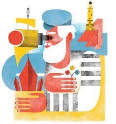 grain edit · Maria Corte #colourful #illustration