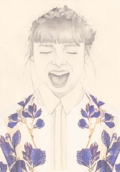 Happy bangs #draw #braids #girl #flowers
