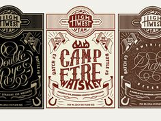 High West Whiskey Labels #graphic design #logo #label #packaging design