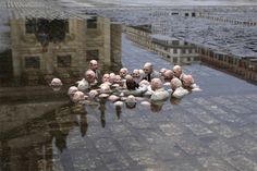 "cement miniature sculptures artist isaac cordal 25 ""politicians debating climate change"" #photography #cement #sculpture #art"