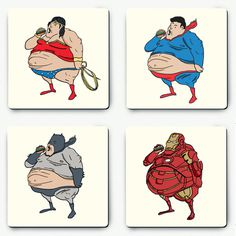 Super Sized Hero Coasters available at Scribbler