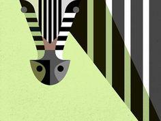Lu_zebra_preview #illustration #brill #josh