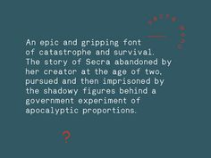 Secra Mono - grab.the.eye | design & visual communication #font #monospace #secra #typography