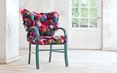Bommel collection - Pompon by Myra Klose - www.homeworlddesign. com (3) #furniture #design #pompons #carpets