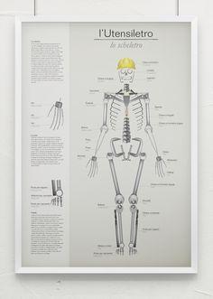 Multipurpose infographic poster Tools/Skeleton #infographic #poster #graphic #skeleton #stools