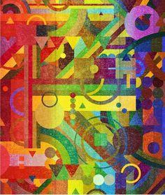 Future Patterns. Art Print by Nick Nelson | Society6 #pattern #print #design #color #illustration #art #rainbow