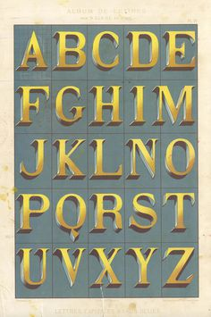 Alphabets_4 #alphabet #vintage #dimension #typography