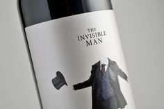 The Invisible Man, wine label by Estudio Maba #label #wine #bottle #suit #elegant #invisible #man