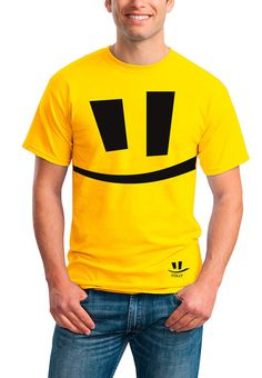 Folly Animation brand on Behance #design #yellow #male #smile #t-shirt #logo
