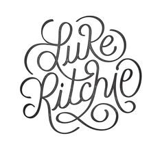 Final_logo_Luke_Ritchie #lettering #branding #design #circles #type #typography