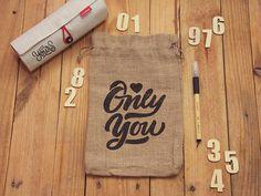 Photorealistic Sack Bag Mockup #branding #bag #mockup