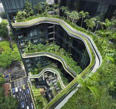 CJWHO ™ (PARKROYAL on Pickering / WOHA) #design #singerpore #landscape #nature #photography #architecture