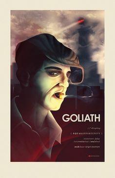 Goliath Poster Design Â« matmacquarrie.ca #robot #digital #macquarrie #painting #mat #poster #goliath