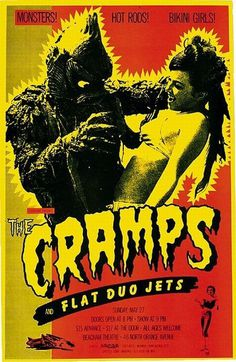 Old Punk Flyers #cramps #gig #poster #the