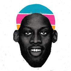 Dennis Rodman #nba #basketball #illustration