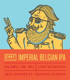 Imperial belgian ipa #beer #label
