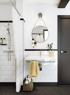 white subway tile bathroom #interior #design #decor #deco #decoration