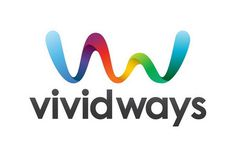 letter v logo design with ribbon