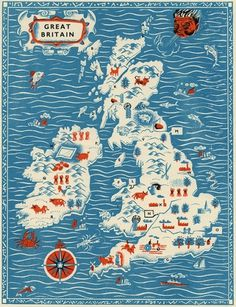 All Things Stylish #map #illustration #britain