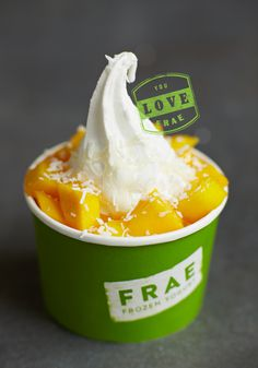 package, cup, frae, yogurt, fruit, frozen