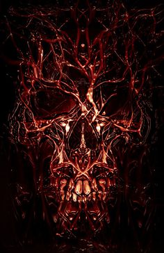Sanguine Conscripte by ~ECHOOHCE on deviantART #blood #gore #veins #arteries #flesh #horror #digital #illustration #painting #art #face #skull