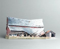 brokenhouses-5 #sculpture #house #art #broken #miniature