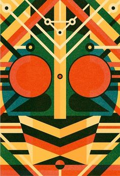 Kamenn Rider Vs Super Sentai - Ben Newman Illustration #inspiration #illustration #design #graphic