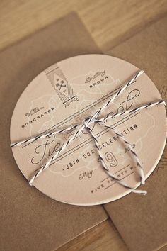 FPO: Goncharow's Coaster Wedding Invites #lettering #invitation #design #vintage #logo #coaster #typography