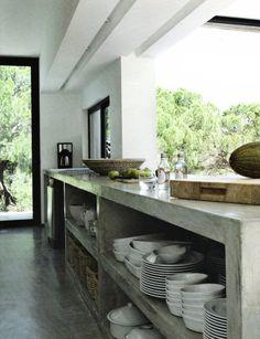 Interior Design Ideas: 12 Concrete Interiors Photo #concrete #modern #rustic #polished #kitchen
