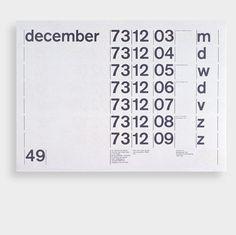 onoma design – 1973 calendar