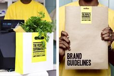The People's Supermarket | Identity Designed #print #branding
