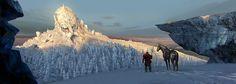 giant head,ice cold terror #mountain #scene #arctic