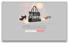 Luxe a Porter on Behance #porter #page #a #website #luxe #fashion #landing #grey