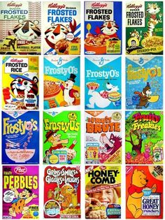 Vintage Cereal Collection - TheDieline.com - Package Design Blog #packaging #print #design #illustration #vintage #cereal #layout #typography