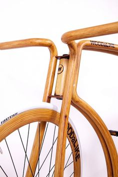 Faux Wooden Bike by Velonia Bicycles & WOODaLIKE #bicyle #design #unusual #commuter #faux #wood #fake