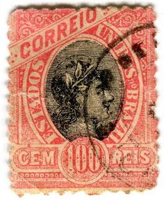 All sizes | Brazil postage stamp: red Correio | Flickr - Photo Sharing! #type #stamp #vintage #typography
